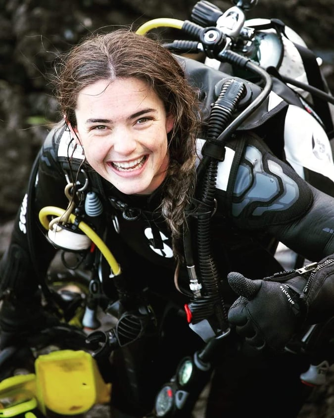 Taryn Meachin Dive Instructor in training at Dive HQ Auckland